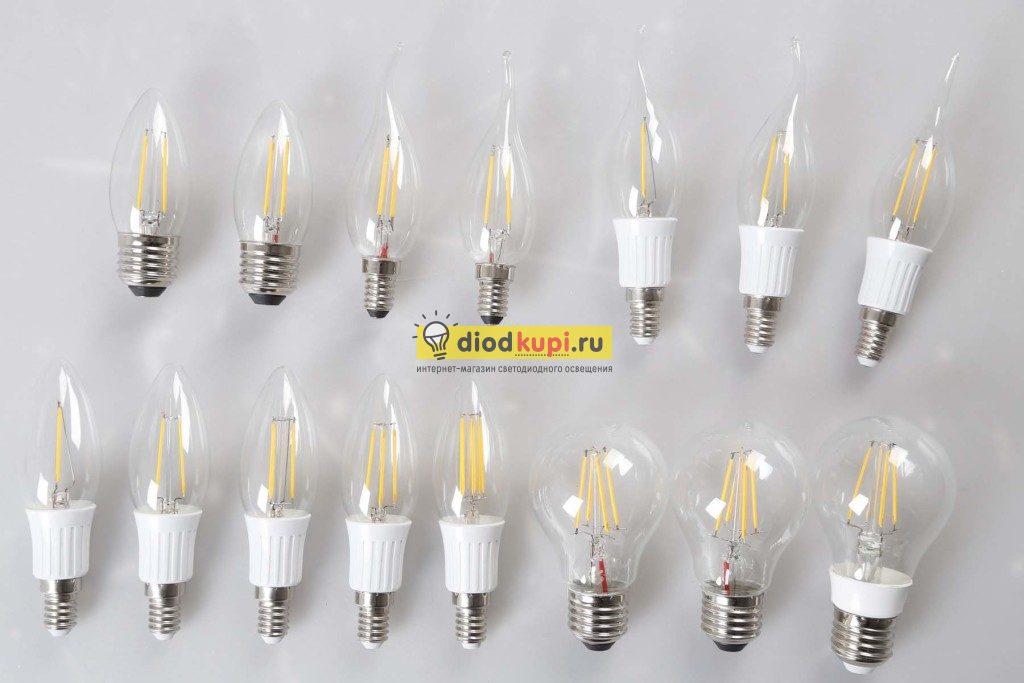 филаментные светодиодные лампы