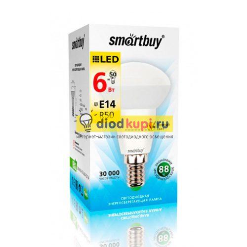 Светодиодная (LED) Лампа Smartbuy-R50-06W/3000/E14