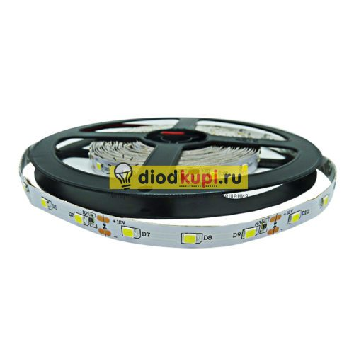 Светодиодная лента (интерьерная) LuxLight SMD2835 60д/м 9.6Вт/м 6000K (белый холодный) IP33