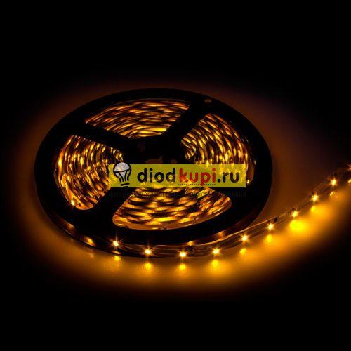 Светодиодная лента (интерьерная) LuxLight SMD3528 60д/м 4.8Вт/м Желтый цвет IP33