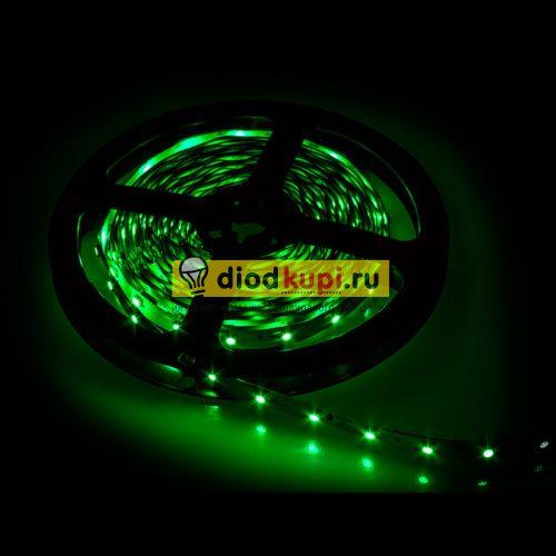 Светодиодная лента (интерьерная) LuxLight SMD3528 60д/м 4.8Вт/м Зеленый цвет IP33