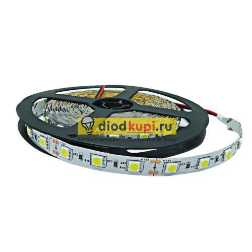 Светодиодная лента (интерьерная) LuxLight SMD5050 60д/м 14.4Вт/м 6000K (белый холодный) IP33