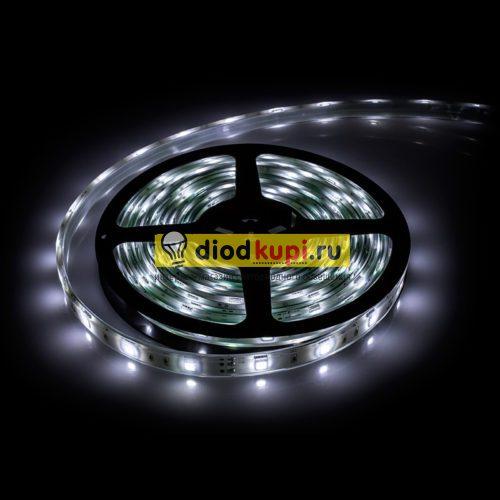 Светодиодная лента (влагозащищенная) LuxLight SMD5050 30д/м 7.2Вт/м 6000K (белый холодный) IP65