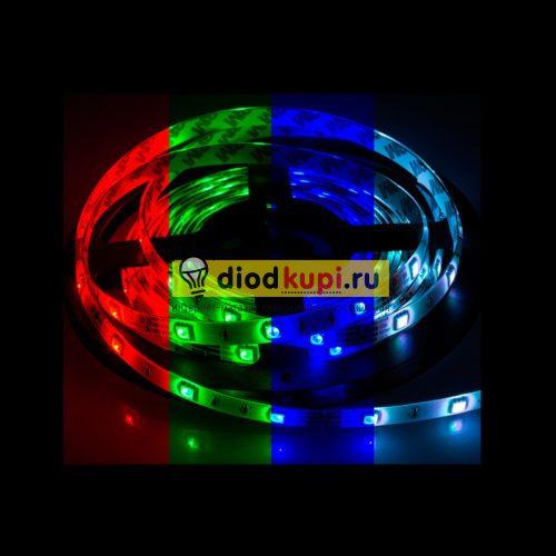 Светодиодная лента (влагозащищенная) LuxLight SMD5050 30д/м 7.2Вт/м RGB многоцветная IP65