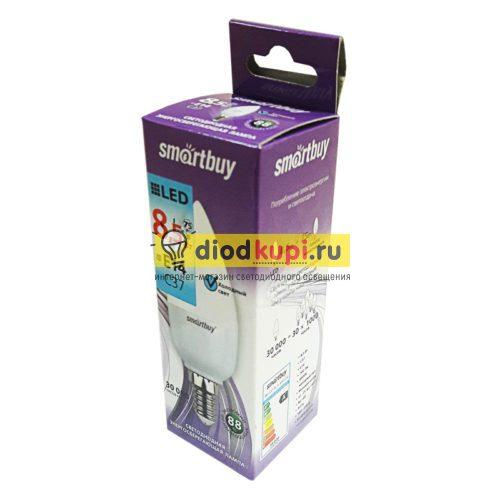Светодиодная (LED) Лампа Smartbuy-C37-8,5Вт 4000К E14