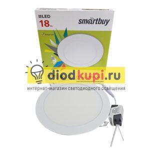 svetodiodnaya-kruglaya-DL-Smartbuy-18Vt-3000K