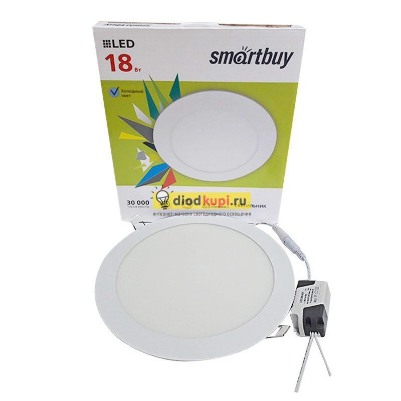 Панель светодиодная круглая DL Smartbuy 18Вт 5000К